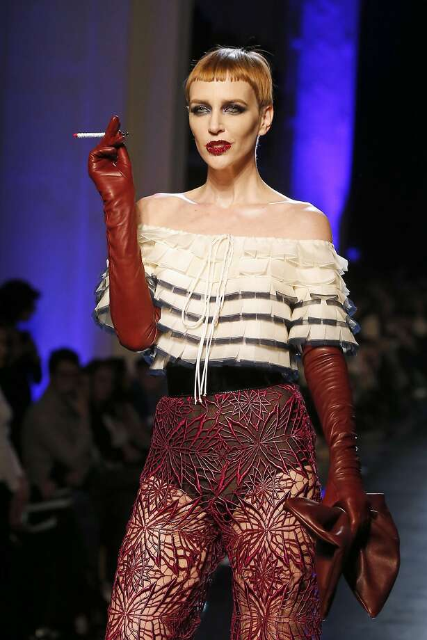 A model presents a creation as part of the Jean-Paul Gaultier Spring-Summer 2014 Haute Couture fashion collection, presented Wednesday, Jan. 22, 2014 in Paris. Photo: Jacques Brinon, Associated Press
