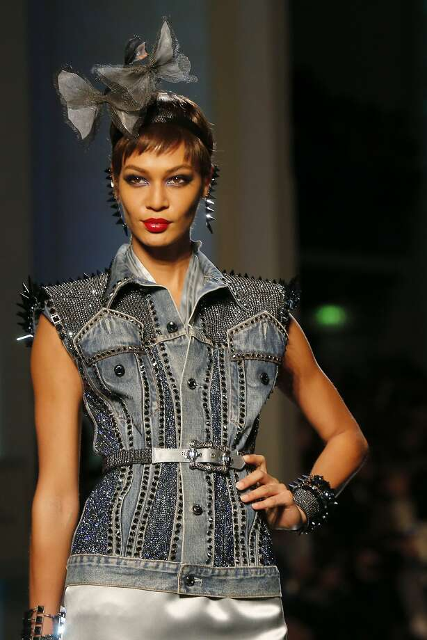 Model Joan Smalls presents a creation as part of the Jean-Paul Gaultier Spring-Summer 2014 Haute Couture fashion collection, presented Wednesday, Jan. 22, 2014 in Paris. Photo: Jacques Brinon, Associated Press