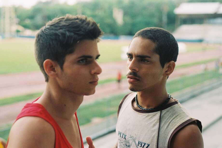 "Reinier Diaz (left) and Milton Garcia develop an unexpected attraction for each other in ""The Last Match."" The thriller takes place in Cuba, but it was filmed in Puerto Rico. Photo: Canteen Outlaws"