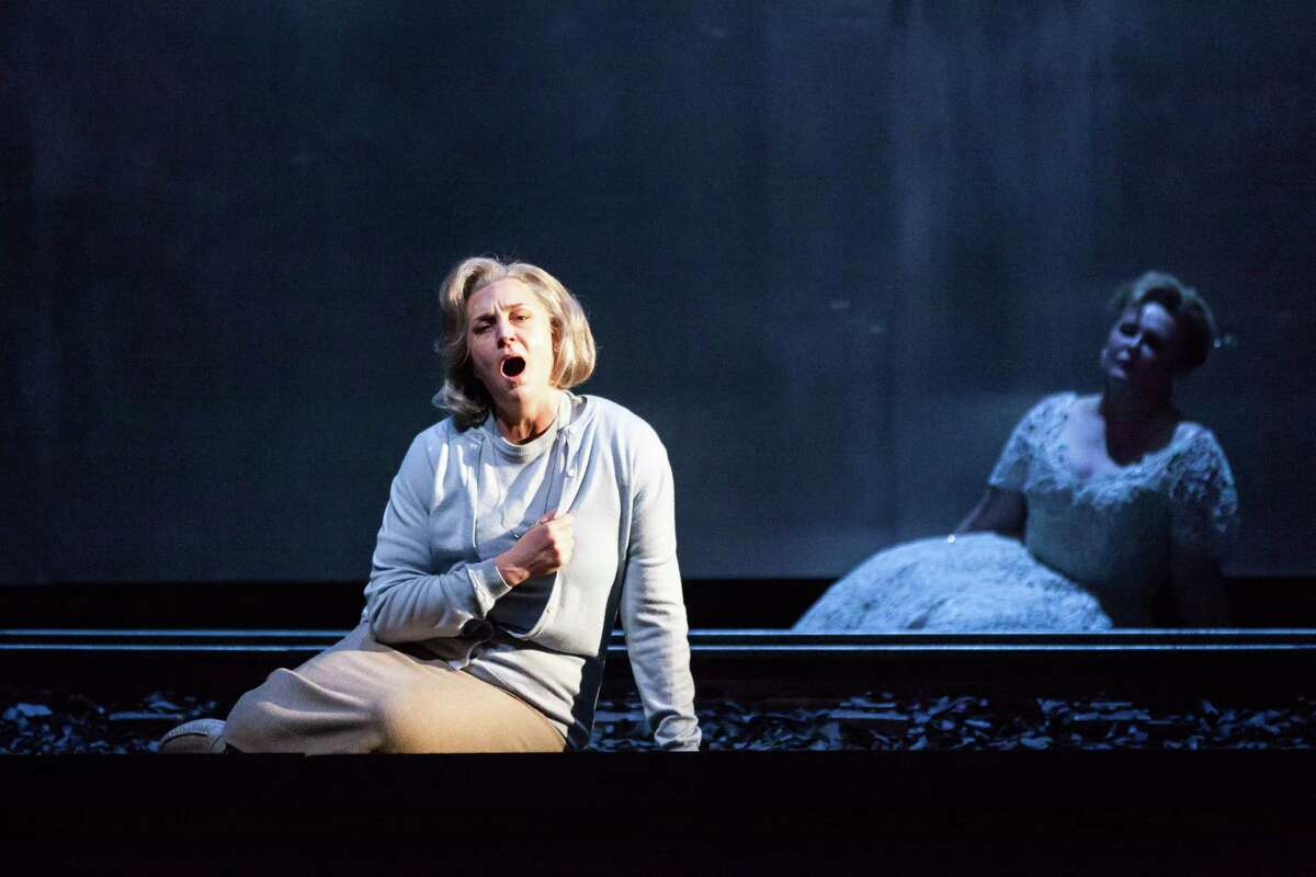 """Melody Moore plays Marta, a prisoner who survives a concentration camp, in Houston Grand Opera's production of Mieczyslaw Weinberg's """"The Passenger."""""""