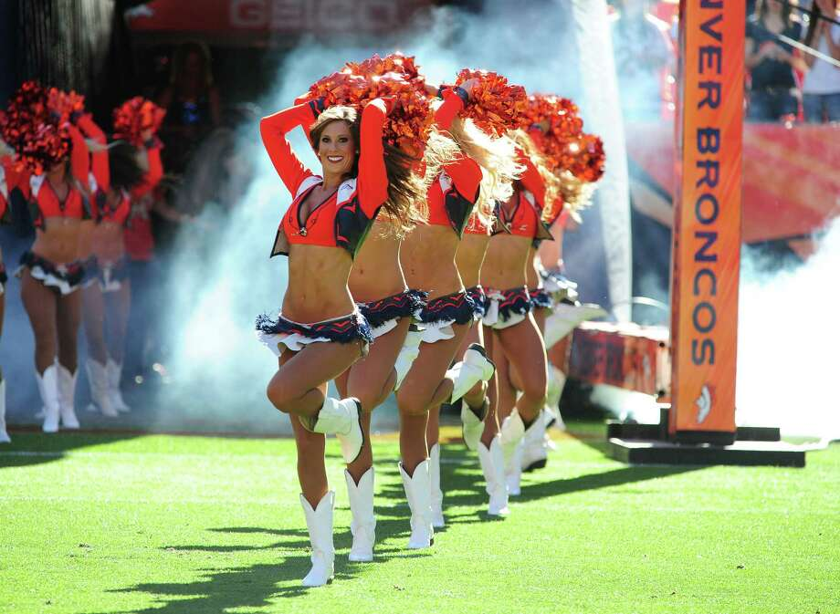 The Denver Broncos Cheerleaders perform on Oct. 27, 2013 in Denver. Photo: Scott Cunningham, Getty Images / 2013 Scott Cunningham