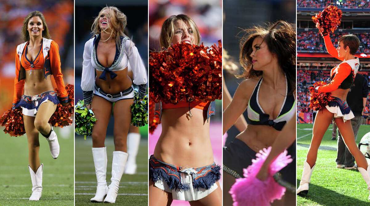 As the Seattle Seahawks and Denver Broncos head to New York, here's a look at the Sea Gals and the (oh-so creatively named) Denver Broncos Cheerleaders.