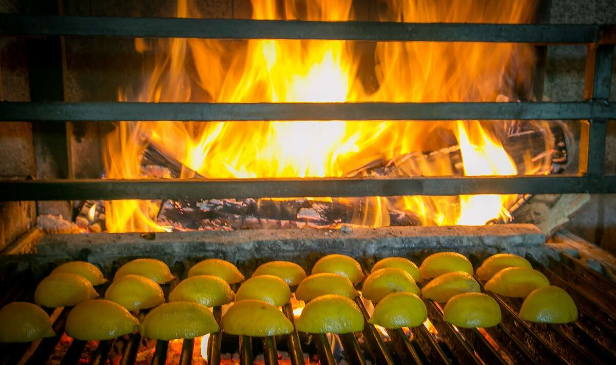 Lemons being grilled at Penrose in Oakland, Calif., on January 18th, 2014.