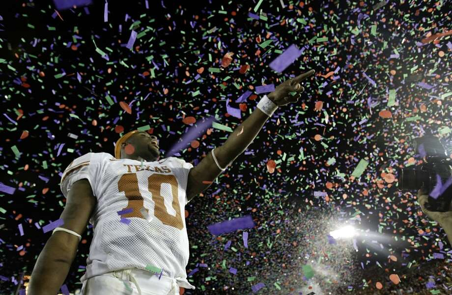Vince Young after he helped lead the Longhorns to a national championship. Photo: Kevin Fuji, Houston Chronicle