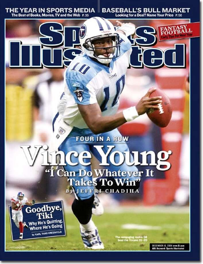 Vince Young on the cover of Sports Illustrated.
