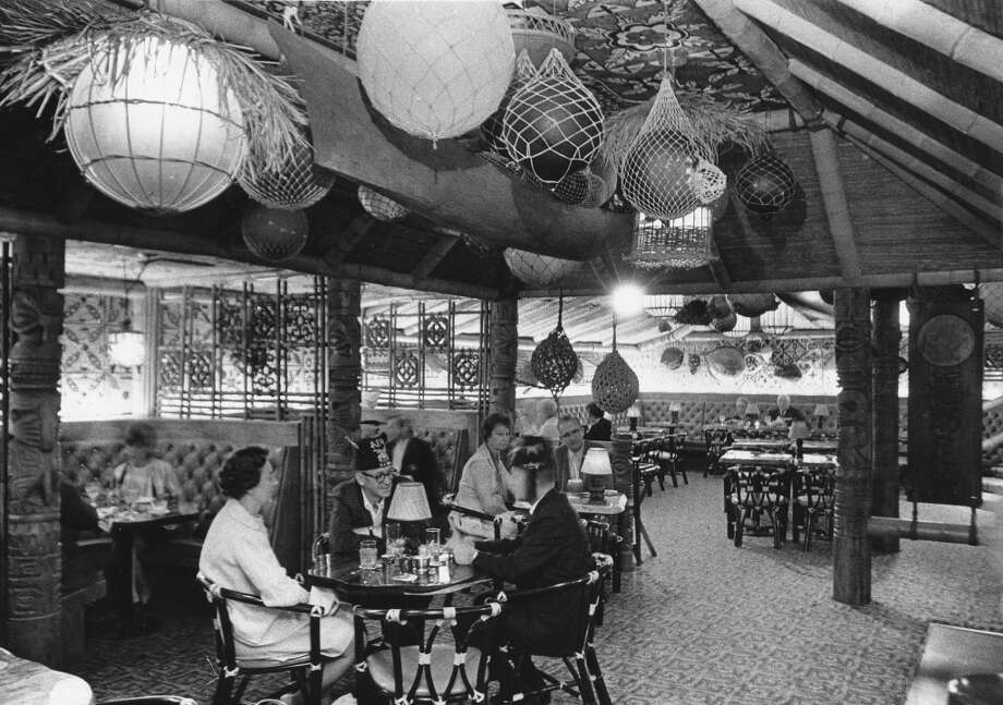Tiki-themed Trader Vic's was in Seattle's Washington Plaza Hotel (now the Westin). It's pictured soon after the hotel opened in 1969.Photo: Paul Thomas, copyright MOHAI, Seattle Post-Intelligencer collection, 2000.107_print_restaurants_052.