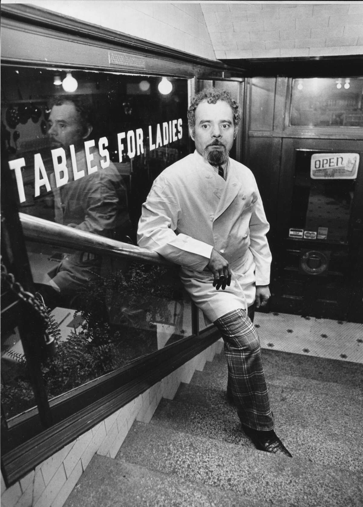 The Brasserie Pittsbourg in Pioneer Square and its owner/chef Francois Kissel. The restaurant served as clubhouse in the 1970's for those plotting to save the Pike Place Market. Photo: Phil Webber, copyright MOHAI, Seattle Post-Intelligencer collection, 2000.107_print_restaurants_016.