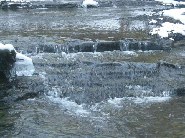 Linda Thorburn of East Greenbush took this photo of a creek in Thacher Park on the Paint Mine Trail head on the green trail. The stream had frozen in parts and this was one where the water was still rolling freely. (Linda Thorburn)