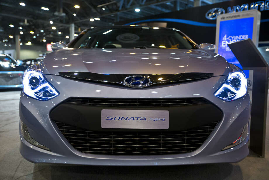 The Hyundai Sonata Hybrid is a non-plug-in hybrid with a lithium polymer battery technology. The Sonata is on display at Houston Auto Show at the Reliant Center. Photo: Marie D. De Jesus, Houston Chronicle