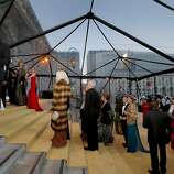 "Guests arrived at the gala under a clear dome meant to keep out the rain on the Polk Street side of City Hall. The San Francisco ballet season opening gala with a theme of ""Phenomenal"" at City Hall Wednesday January 22, 2014 featured a dinner in the rotunda, and cocktails in the South Light Court."