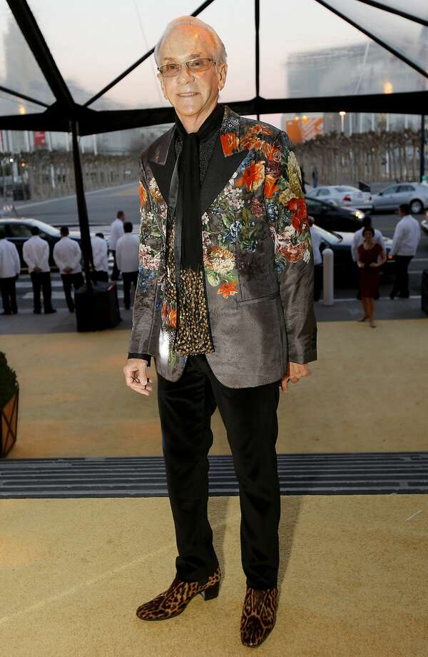 Norman Stone in a print Dolce & Gabbana jacket and leopard shoes. Stone's vibrant look stood out among the other well-dressed men at the Gala.  Photo: Brant Ward, The Chronicle