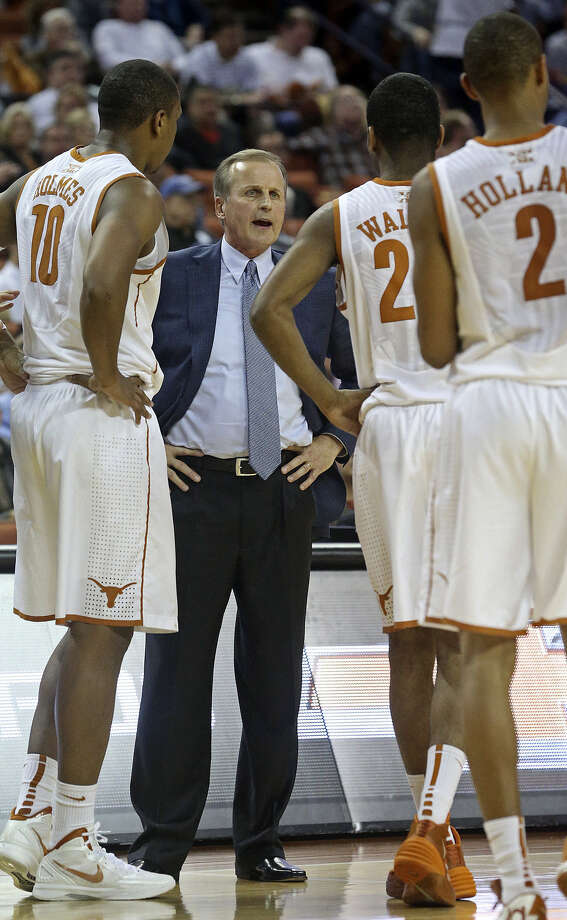 Coach Rick Barnes is drawing plenty of praise for the job he's doing with a UT roster bereft of McDonald's All-Americans. Photo: Tom Reel / San Antonio Express-News