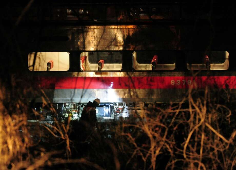 January 2014: A Metro North train sits stranded near the Green Farms station in Westport, Conn. on Wednesday, Jan. 22, 2014. As many as 200 passengers were stuck in the train with no heat since 9 pm. They were all safely transferred to another train within two hours. Photo: Christian Abraham