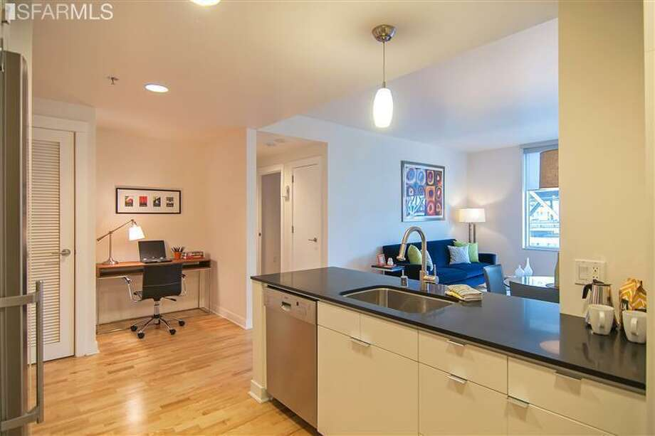 inside 501 Beale, unit 14E. Photos: MLS/Marcus Lee/Climb Real Estate