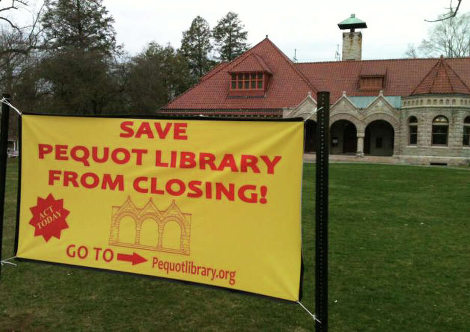 A campaign to reverse a decision to drop public funding of the privately-operated Pequot LIbrary last year succeeded in restoring a $350,000 appropriation in the 2013-14 budget. Photo: File Photo / Fairfield Citizen