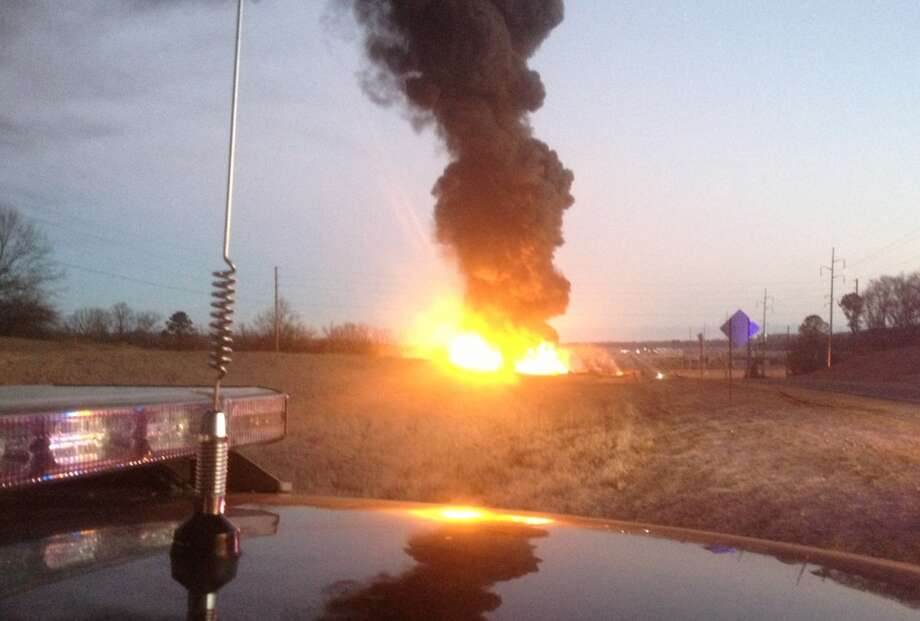 A fire at a biodiesel facility near New Albany, Miss., burns early Wednesday, Jan. 22, 2014.  The fire was so hot that firefighters could not get close enough to fight it, the Mississippi Highway Patrol said. Photo: Mississippi Highway Patrol, AP