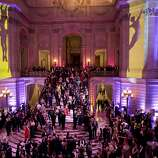 "City Hall is packed with guests of the San Francisco Ballet's Opening Night Gala during the after party festivities in San Francisco, Calif., on Wednesday, January 22, 2014.  The gala was organized with the theme of ""Phenomenal."""