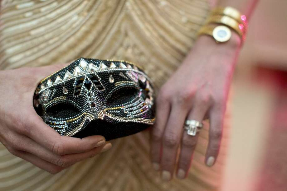 A detail shot of Sarah Somberg's Judith Leiber clutch and Bulgari watch while attending San Francisco Ballet's Opening Night Gala in San Francisco, Calif., on Wednesday, January 22, 2014. Photo: Laura Morton, Special To The Chronicle
