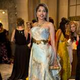 "Deepa Pakianathan wears a gown designed by Rubin Singer to attend the San Francisco Ballet's Opening Night Gala in San Francisco, Calif., on Wednesday, January 22, 2014.  The evening's festivities were organized around the theme of ""Phenomenal."""