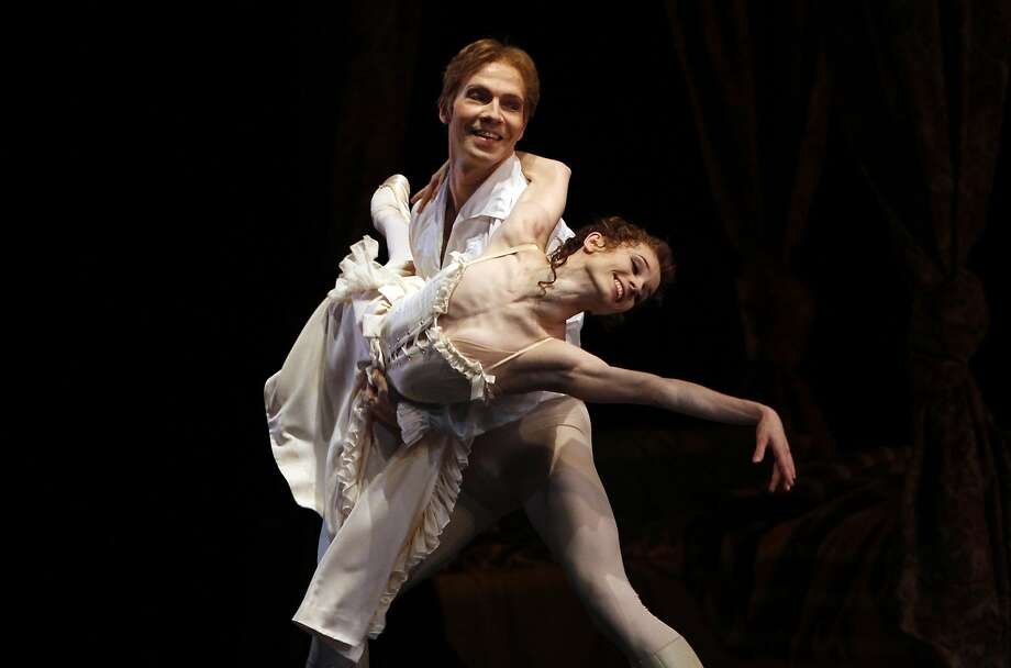 "Maria Kochetkova and Johan Kobborg perform in the bedroom duet from ""Manon."" Photo: Sarah Rice, Special To The Chronicle"