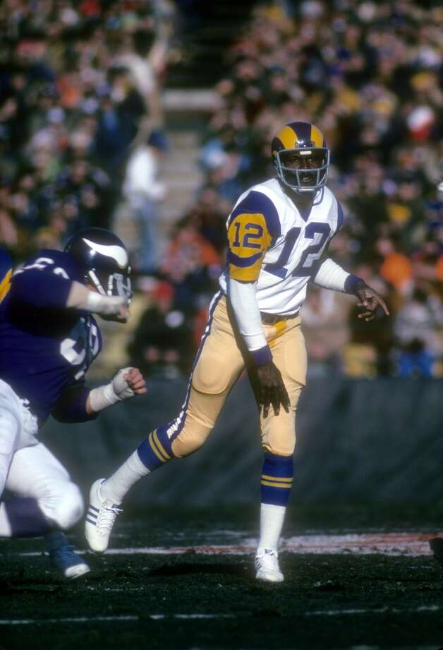 1975 — James Harris, QB, Los Angeles Rams  Score:NFC 17, AFC 10 Photo: Focus On Sport, Getty Images