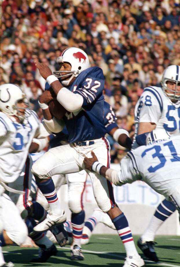 1973 — O.J. Simpson, RB, Buffalo Bills  Score:AFC 33, NFC 28 Photo: Focus On Sport, Getty Images