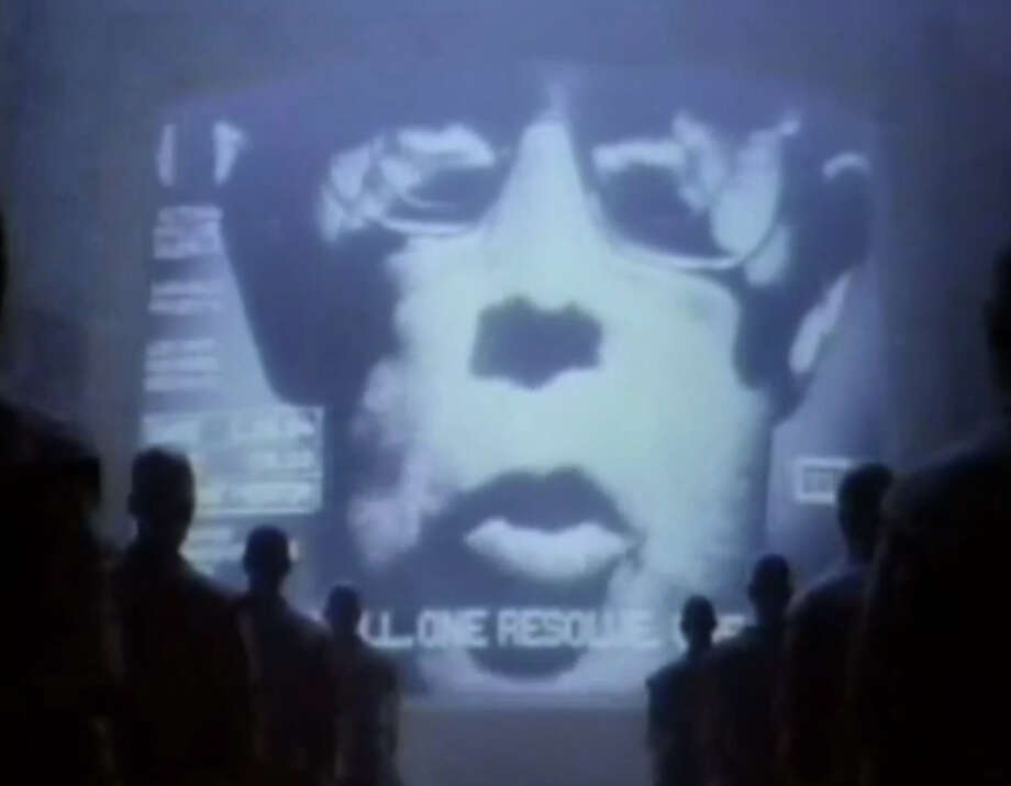 "Apple introduced its Macintosh computer with this ad, ""1984."" It ""debuted"" during the Jan. 22, 1984, Super Bowl, but it had aired once before."