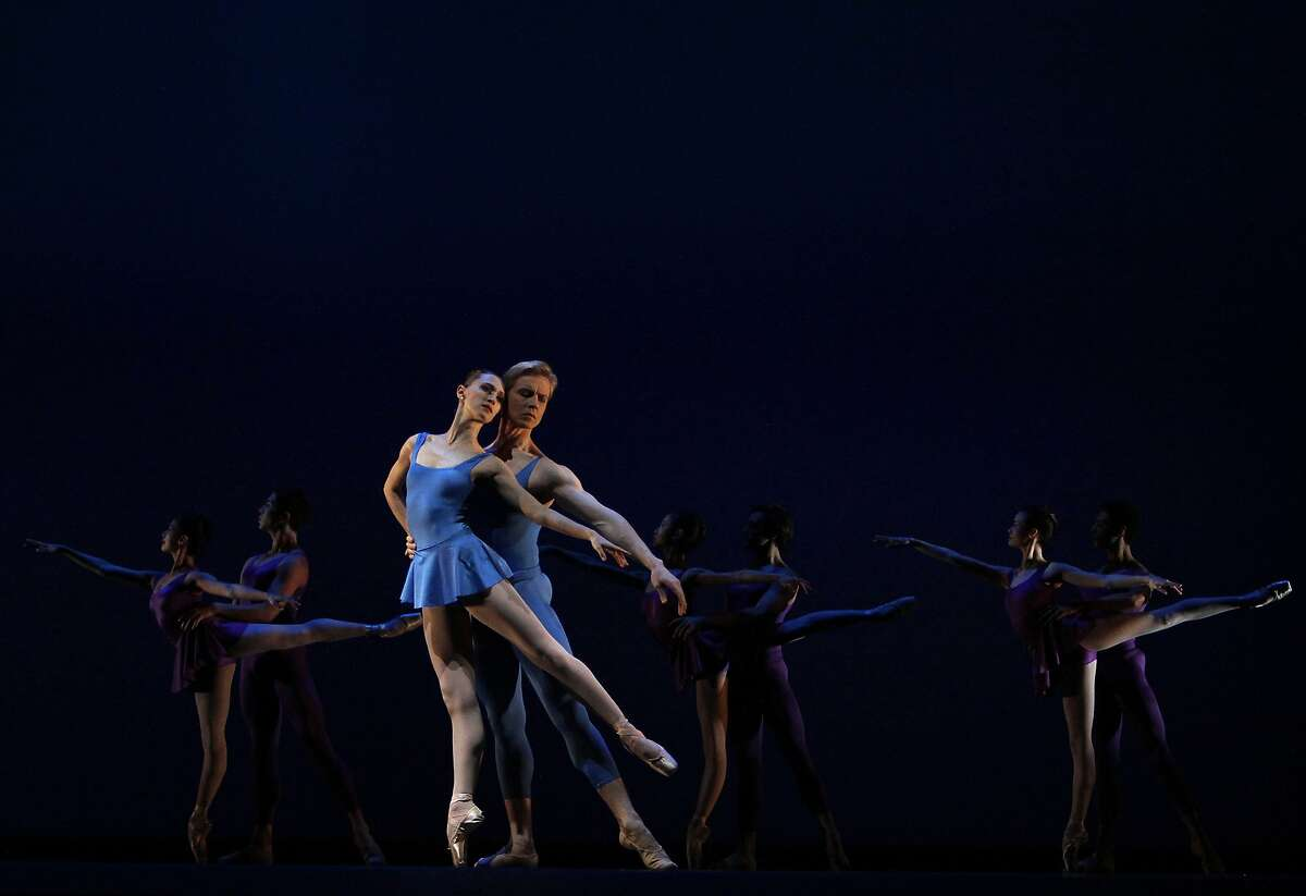 Sarah Van Patten and Tiit Helimets perform Pas de deux from Concerto at dress rehearsal for the San Francisco Ballet's Opening Night Gala in San Francisco, Calif., on Wednesday, January 22, 2014.