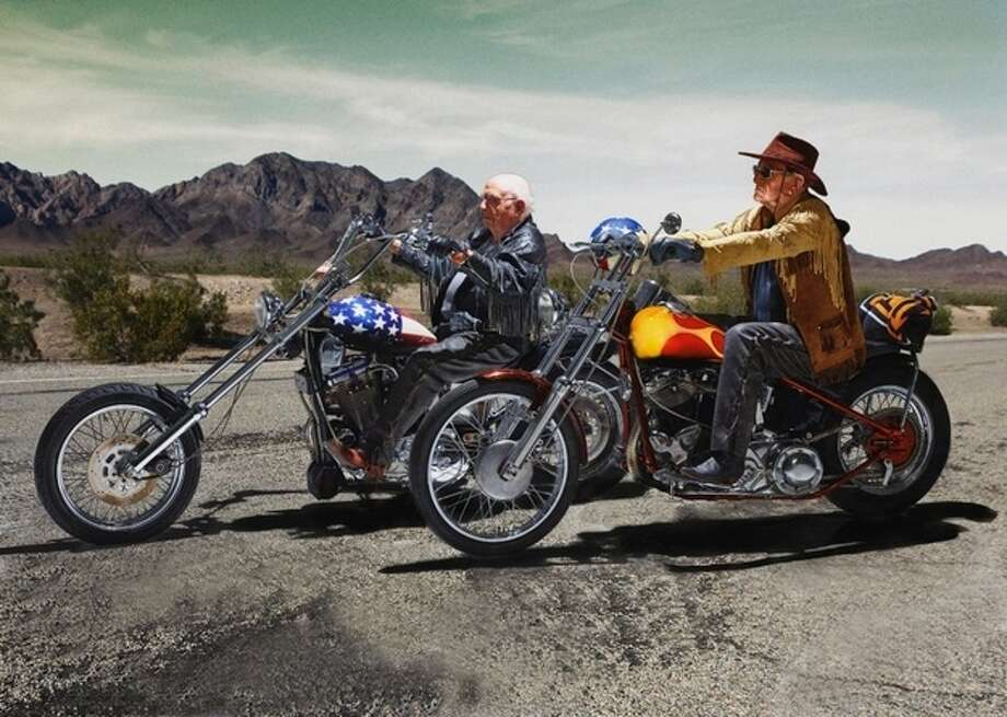 """Easy Rider"" Walter Loeser 98 (left), and Kurt Neuhaus, 90 Photo: Contilla Retirement Group"
