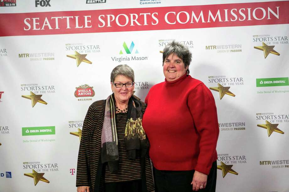 Celeste Keaton and Lisa Brummel, owner of the Seattle Storm, stop on the red carpet. Photo: JOSHUA TRUJILLO, SEATTLEPI.COM / SEATTLEPI.COM