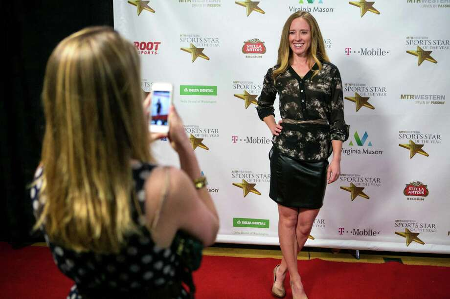 Former UW rower and Olympian Mary Whipple stops on the red carpet during the 79th annual Sports Star of the Year awards. Photo: JOSHUA TRUJILLO, SEATTLEPI.COM / SEATTLEPI.COM