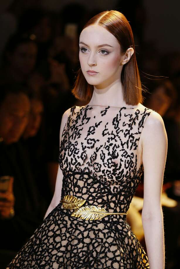 A model presents a creation by  Zuhair Murad during the Haute Couture Spring-Summer 2014 collection show, on January 23, 2014 in Paris. Photo: Patrick Kovarik, AFP/Getty Images