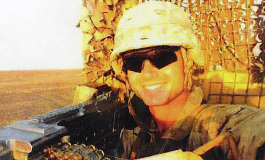 A photo of the late Marine Lance Cpl. Roger W. Muchnick Jr., former Westport resident, who was killed by an explosion during a training exercise last March in Nevada. Photo: File Photo / Westport News
