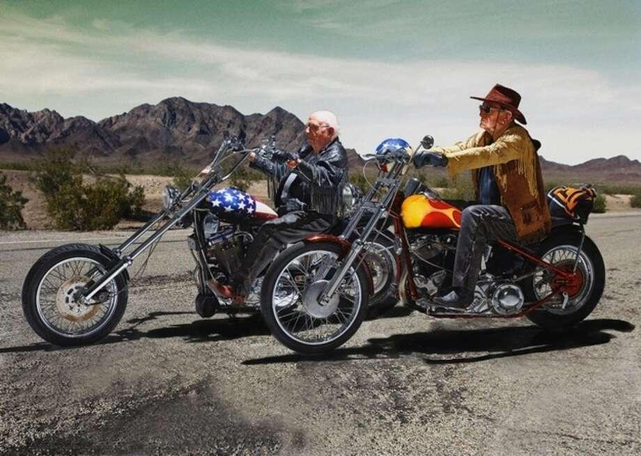 """Easy Rider""Walter Loeser 98 (left), and Kurt Neuhaus, 90 Photo: Contilla Retirement Group"
