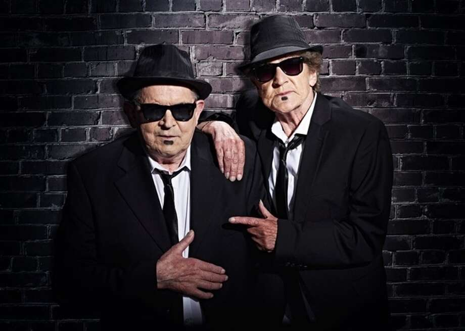 """The Blues Brothers"" Margarete Schmidt, right, 77, and Lothar Wischnewski 76 Photo: Contilla Retirement Group"