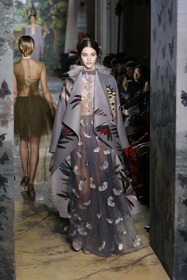 A model presents a creation as part of the Valentino Spring-Summer 2014 Haute Couture fashion collection, presented Wednesday, Jan. 22, 2014 in Paris.  Photo: Jacques Brinon, Associated Press