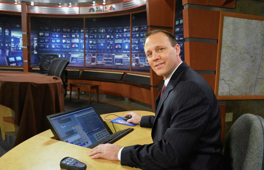 WNYT meteorologist Paul Caiano in their studios Friday Jan. 17, 2014, in Albany, NY.  (John Carl D'Annibale / Times Union) Photo: John Carl D'Annibale / 00025377A