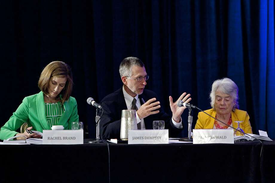 Members of the Privacy and Civil Liberties Oversight Board at a workshop in July. Photo: Christopher Gregory, New York Times