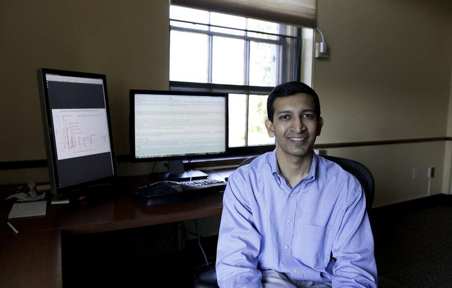 **EMBARGO: No electronic distribution, Web posting or street sales before Thursday 12:01 a.m. ET Jan. 23, 2014. No exceptions for any reasons. EMBARGO set by source.** FILE -- Raj Chetty, an economics professor at Harvard University, in his office at the school in Cambridge, Mass., Oct. 5, 2012. According to a large new academic study co-authored by Chetty, the odds of moving up or down the income ladder in the U.S. have not changed appreciably in the last 20 years, an idea that contradicts politicians in both parties who have claimed that income mobility is falling. (Evan McGlinn/The New York Times) Photo: Evan Mcglinn, New York Times