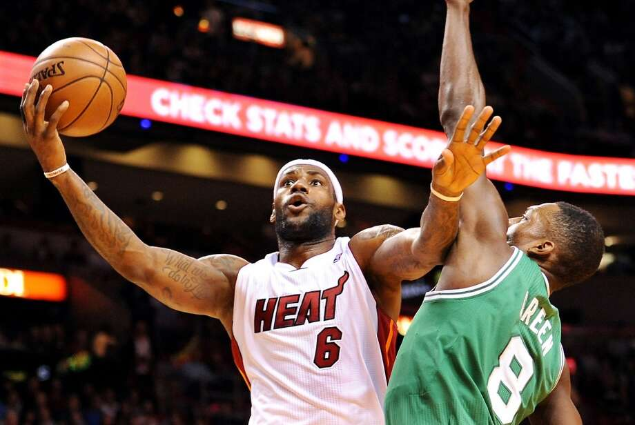 LeBron James  Miami Heat forward Photo: Robert Duyos, MCT