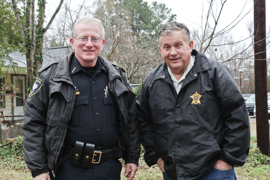 Jasper Police Chief, Robert MacDonald (left), and Jasper County Sheriff, Mitchel Newman, collaborated on a county-wide drug bust, held on Thursday, Jan. 23. Photo by Alison Hart.