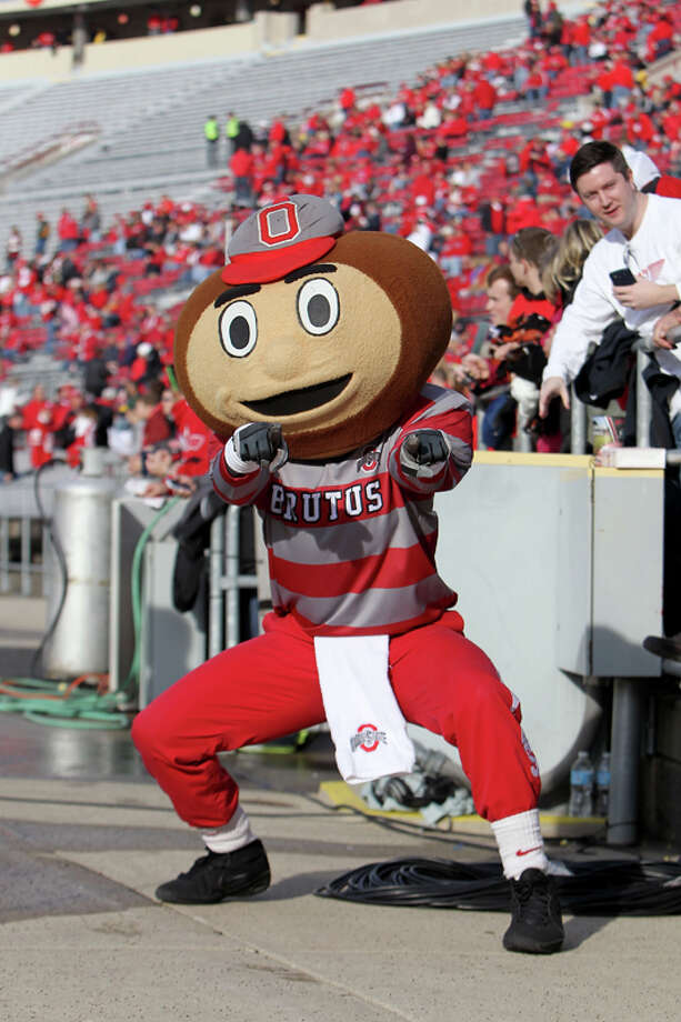 Granted, a buckeye didn't leave the Buckeyes a lot of room to work with for Ohio State's Brutus mascot, but this Curious George meets an acorn hybrid was not the way to go. Photo: Mike McGinnis, Getty Images / 2012 Mike McGinnis