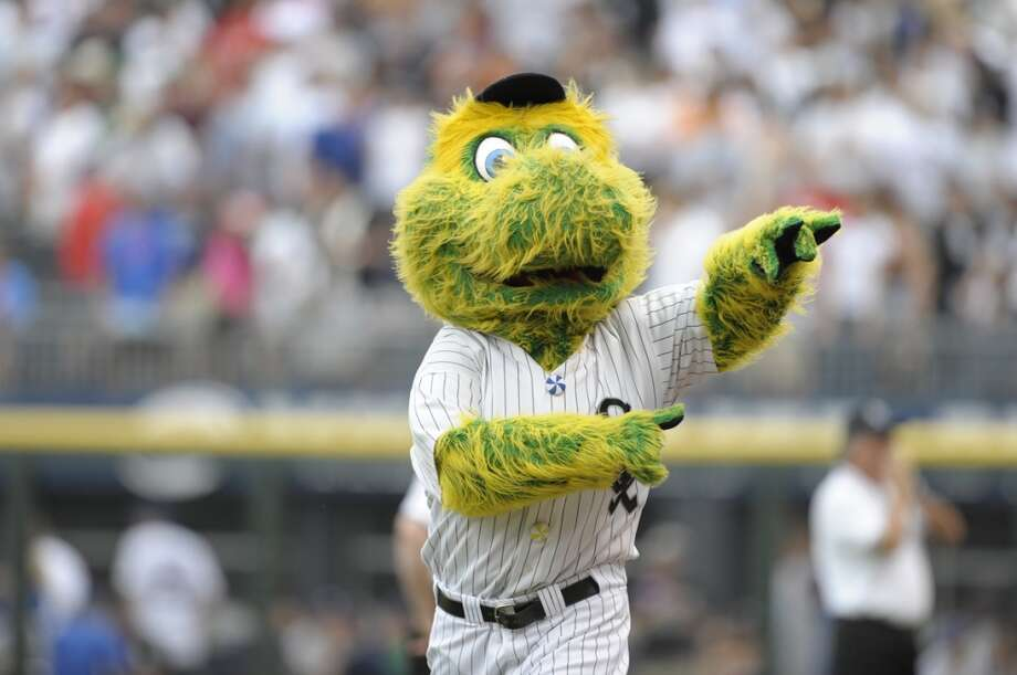 Clark the Cub is nowhere near as bad as the crosstown rival White Sox mascot, Southpaw. Is there anyone on the south side of Chicago who hasn't had nightmares about this scraggly green mess? Photo: Ron Vesely, MLB Photos Via Getty Images