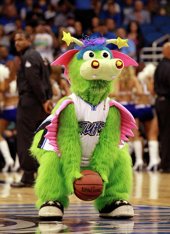"""The Orlando Magic's """"Stuff"""" kind of looks like he needs to blow his nose. We don't want to be there when he does. Photo: Sam Greenwood, Getty Images / 2010 Getty Images"""