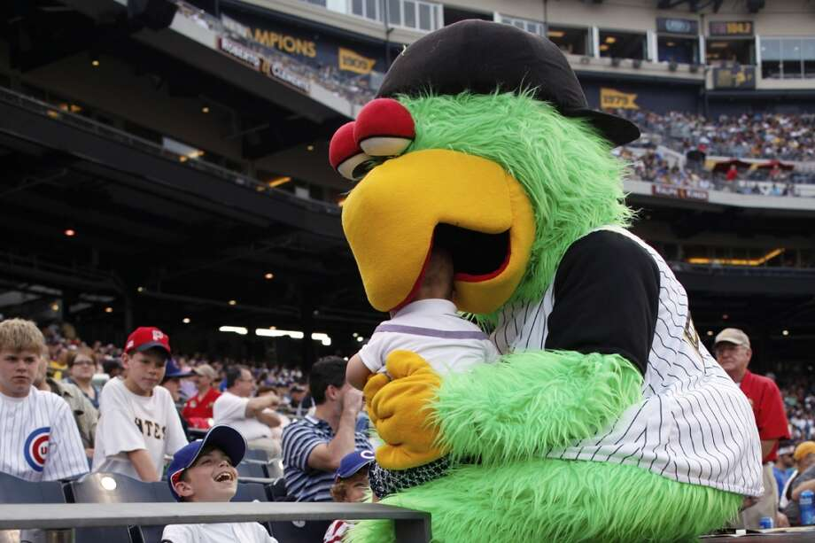 Can we all agree that eating babies is wrong, Pittsburgh Pirate Parrot? Photo: Joe Robbins, Getty Images