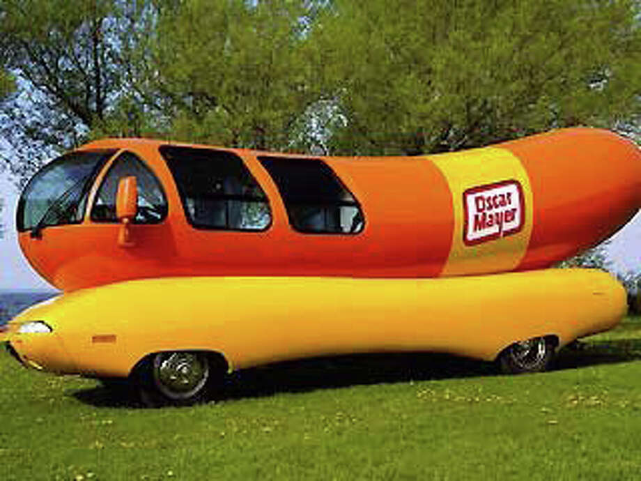 Hop aboard the Oscar Mayer Wienermobile when it comes to town Friday. Photo: Contributed Photo / Fairfield Citizen