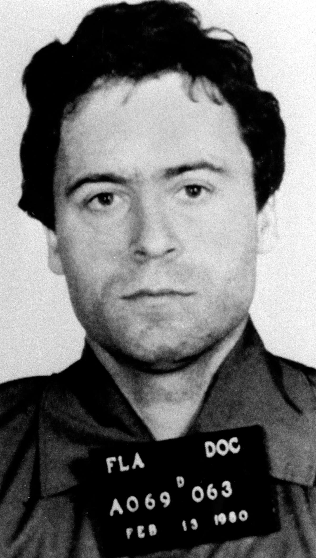A February 1980 police mug shot of serial killer Ted Bundy, who left a trail of victims from Washington state and Colorado to Florida, where he was finally convicted and executed. (AP Photo)