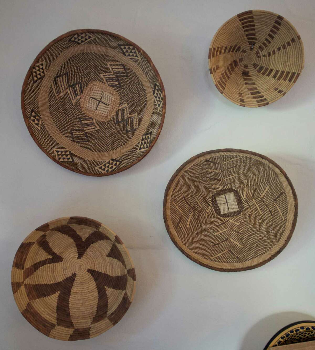 Baskets are among the items Kirstin Silberschlag and Luke Bovenzi collect and display in their home.