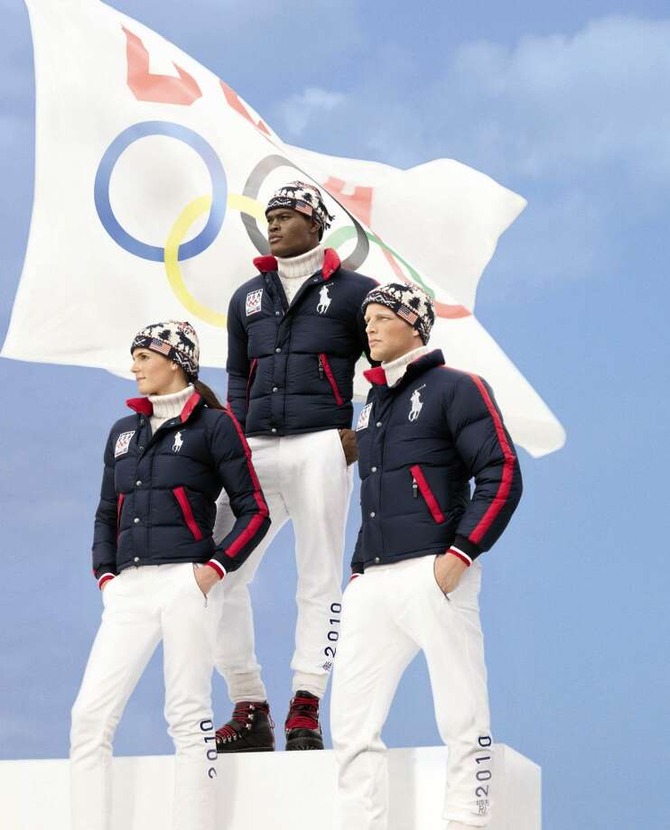 The 2010 Ralph Lauren look was a bit more subdued. Team USA wore these for the opening ceremonies in Vancouver, British Columbia. Photo: AP
