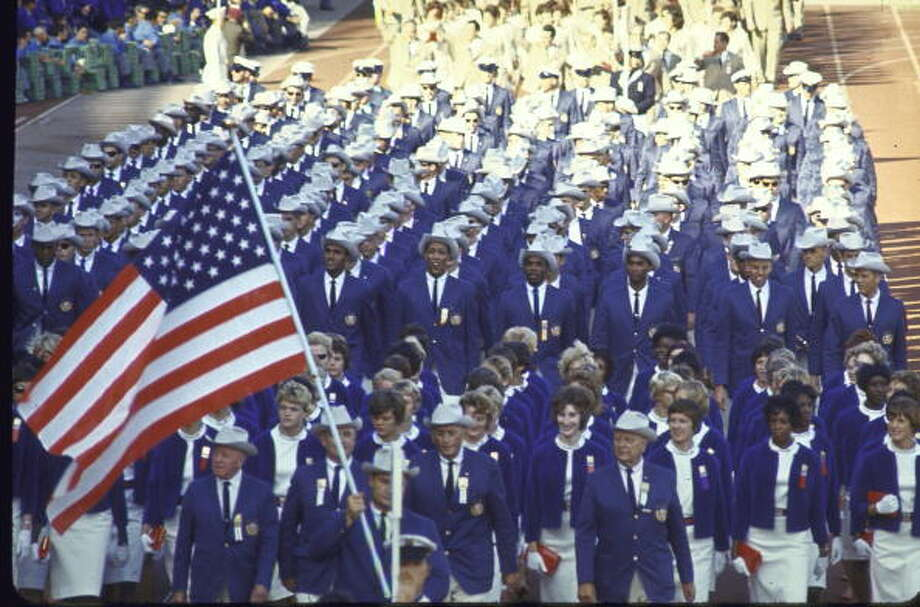 The US team marching into the National Stadium at the opening of the XVIII Summer Olympics. Photo: Al Fenn, Time & Life Pictures/Getty Image / Al Fenn